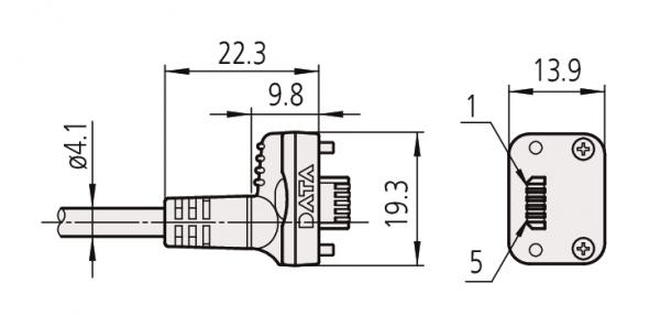Cáp truyền dữ liệu trực tiếp qua cổng USB cho thiết bị điện tử Mitutoyo, 06AFM380A