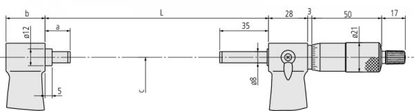 Panme Cơ Khí Đo Ngoài Mitutoyo 325-350mm, 103-150