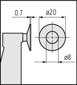 """Panme Cơ Khí Đo Ngoài Đo Bánh Răng 0-1"""", Disk=20mm Mitutoyo, 369-350-30"""