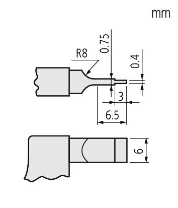 122-142 (Mã mới 122-142-10)Panme đo rãnh 25-50mm x 0.01 kiểu D