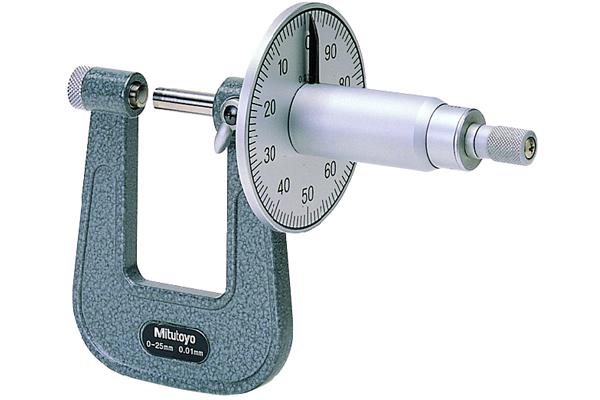 Panme Cơ Đo Ngoài Đo Tấm, Sheet Metal Micrometer Graduated Dial 0-25mm, 50mm Throat, 119-202