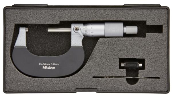 Panme Cơ Khí Đo Ngoài 25-50mm/ 0,01mm Mitutoyo, 102-302 (Khung cách nhiệt)
