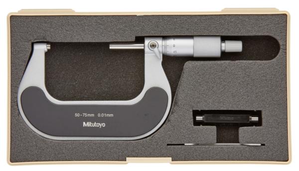 Panme Cơ Khí Đo Ngoài 50-75mm/ 0,01mm Mitutoyo, 102-303 (Khung cách nhiệt)