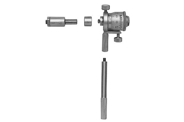 Panme Cơ Đo Lỗ Sâu 0-7mm/0.01mm Có Tay Cầm Nối Dài 25-50mm (2 rods) Mitutoyo, 141-101
