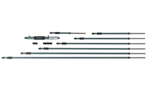Panme Cơ Đo Lỗ Sâu 0-25mm/0.01mm Có Tay Cầm Nối Dài 200-1000mm (8 rods) Mitutoyo, 141-118