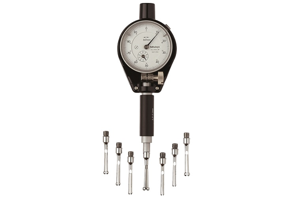 "Đồng Hồ Đo Lỗ Nhỏ, 2-Point Inside Measuring Instrument Bore Gauge for Extra Small Holes, 0,059""-0,156"", 0,0001"", 526-166-20"
