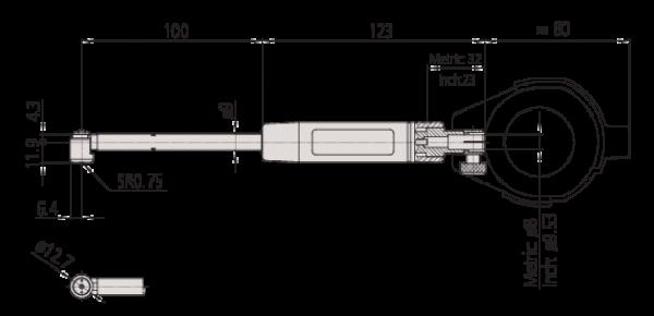 Bộ Đồng Hồ Đo Lỗ 2 Điểm 100-160/0,001mm Mitutoyo, 511-724-20
