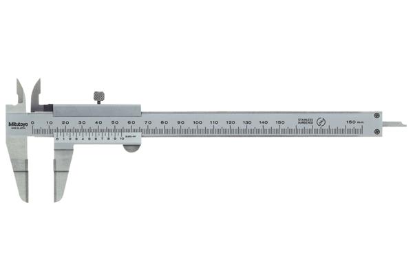 Thước Cặp Cơ Khí Ngàm Vát Mỏng có Phủ Carbide 0-300mm/0,05mm Mitutoyo, 536-136