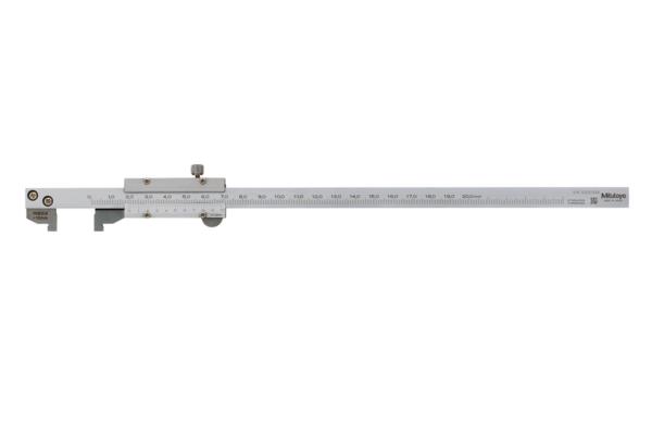 Thước Cặp Cơ Khí Mỏ Đo Ngắn Có Chỉnh Tinh 0-200mm/0,02mm Mitutoyo, 536-171
