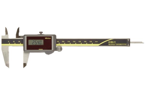 """Thước Cặp Điện Tử Quang Năng, Digital ABS Solar Caliper Inch/Metric, 0-4"""", Rod, Thu Ro, w/o Out, 500-473"""