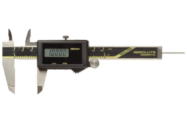 """Thước Cặp Điện Tử Quang Năng, Digital ABS Solar Caliper Inch/Metric, 0-4"""", Rod, Thumb Roller, 500-463"""
