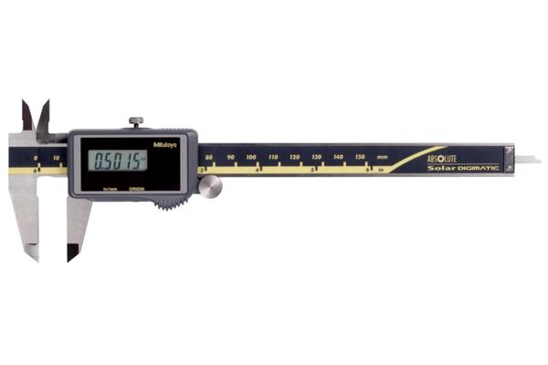 """Thước Cặp Điện Tử Quang Năng, Digital ABS Solar Caliper Inch/Metric, 0-6"""", Blade, Thumb Roller, 500-464"""