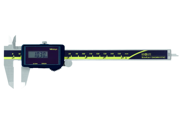 """Thước Cặp Điện Tử Quang Năng, Digital ABS Solar Caliper Inch/Metric, 0-6"""", Bla., Thu Ro, w/o Out, 500-474"""
