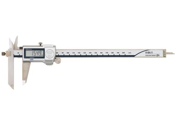 Thước Cặp Điện Tử Ngàm Lệch Đo Bậc IP67 0-200mm Mitutoyo, 573-612-20