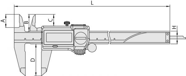 Thước cặp điện tử IP67 0-150mm Mitutoyo, 500-719-20