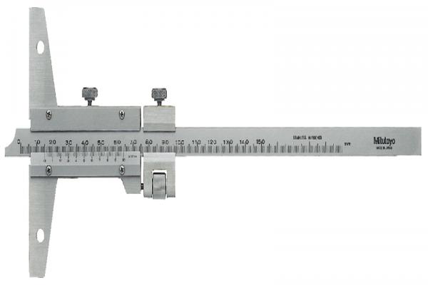 Thước cặp đo sâu cơ khí 0-1000mm/0,02mm, loại có nút chỉnh tinh, 527-105