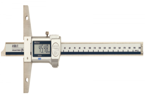 Thước cặp đo sâu điện tử chống nước IP67 0-200mm Mitutoyo, 571-252-20