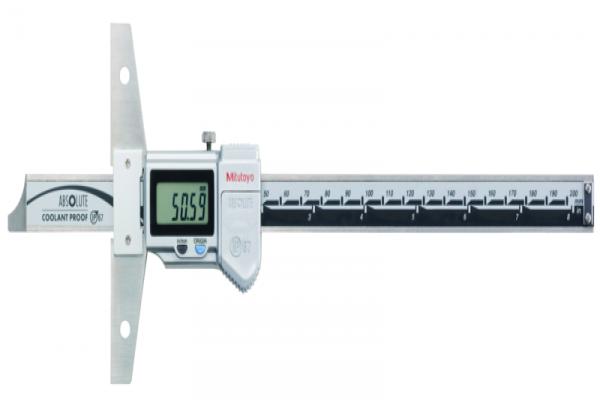 """Thước cặp đo sâu điện tử chống nước IP67 hai hệ Inch/Metric, 0-8""""/0-200mm Mitutoyo, 571-262-20"""