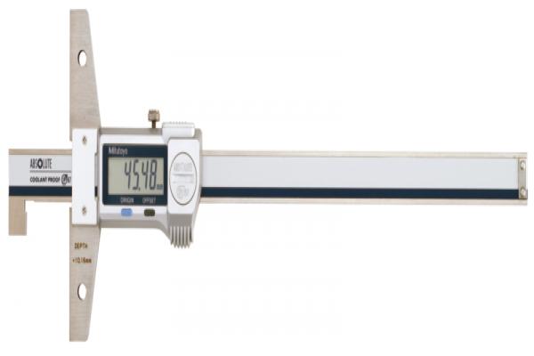 Thước cặp đo sâu điện tử chống nước IP67 loại có móc đầu đo, 0-200mm Mitutoyo, 571-255-20