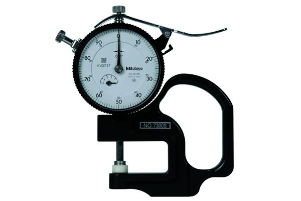 """Đồng hồ đo độ dày cơ khí, 0-0,4"""", 0,001"""", 7300S"""