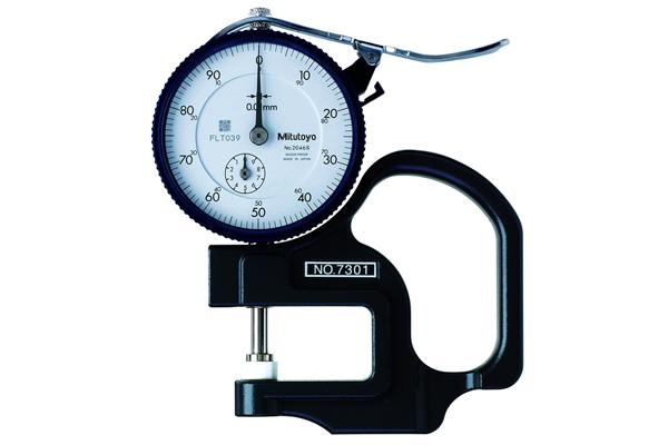 Đồng hồ đo độ dày cơ khí, 0-10mm, 0,01mm, 7301
