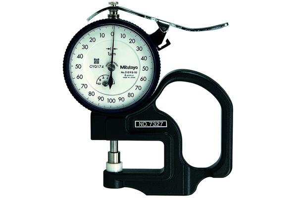 Đồng hồ đo độ dày cơ khí, 0-20mm, 0,01mm, 7305