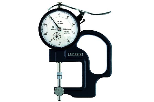Đồng hồ đo độ dày cơ khí, 0-10mm, 0,01mm, 7313
