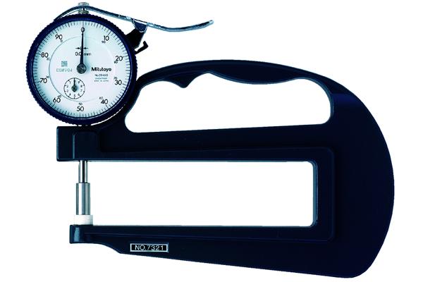 Đồng hồ đo độ dày cơ khí, 0-20mm, 0,01mm, 120mm, 7323