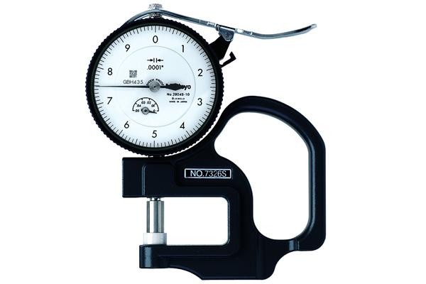 """Đồng hồ đo độ dày cơ khí, 0-0,05"""", 0,0001"""", 7326S"""