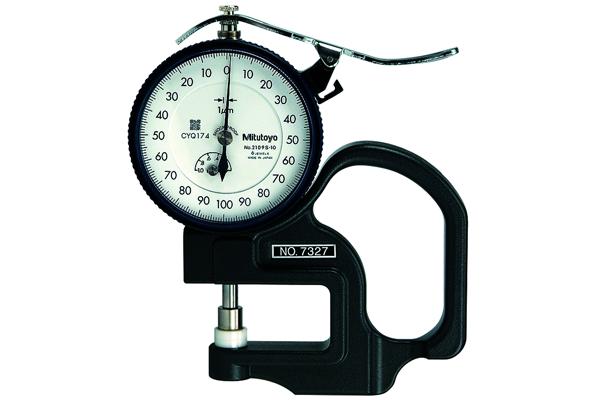 Đồng hồ đo độ dày cơ khí, 0-1mm, 0,001mm, 7327