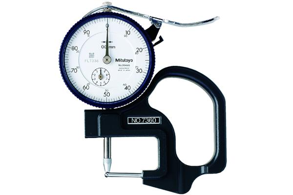 Đồng hồ đo độ dày cơ khí, 0-10mm, 0,01mm, 7360