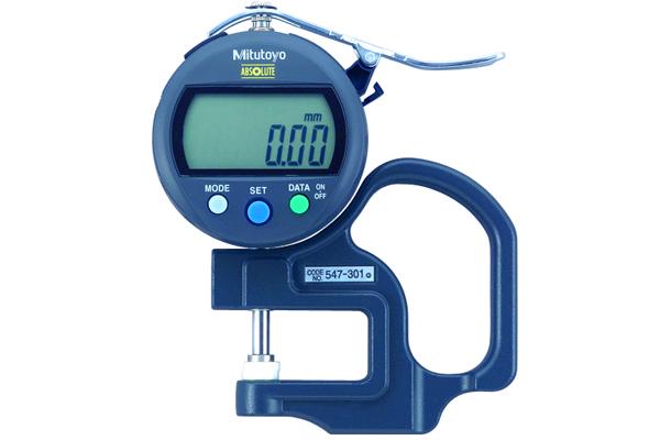Đồng hồ đo độ dày điện tử, 0-10mm, , 0,01mm, 547-301