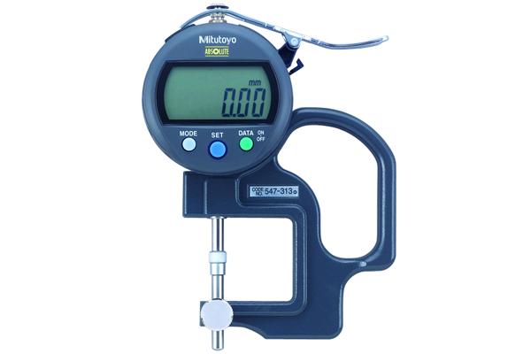 Đồng hồ đo độ dày điện tử, 0-10mm, , 0,01mm, 547-313