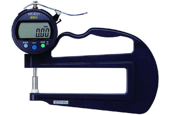 Đồng hồ đo độ dày điện tử, 0-10mm, 0,01mm, 120mm, 547-321
