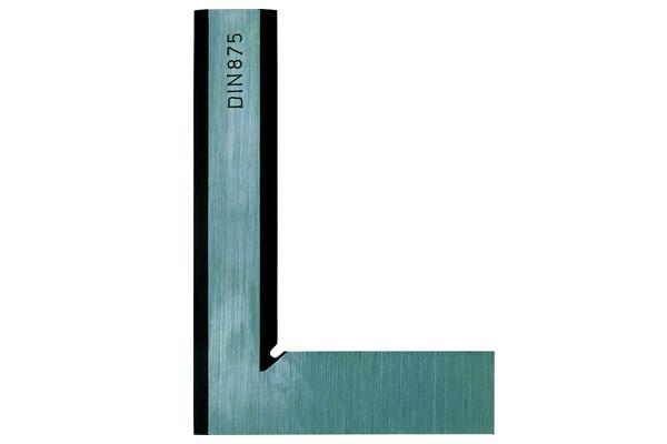 Thước Ke Vuông Thép, Beveled-Edge Square, DIN 875 200x130mm, Stainless Steel, 916-109