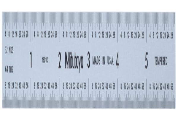 """Thước Lá Thép 6"""" Inch Mitutoyo, 182-103"""
