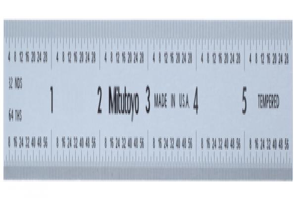 """Thước Lá Thép 6"""" Inch Mitutoyo, 182-104"""