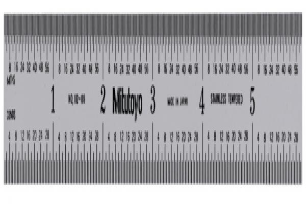 """Thước Lá Thép 150mm/6"""", Metric/Inch Mitutoyo, 182-105"""