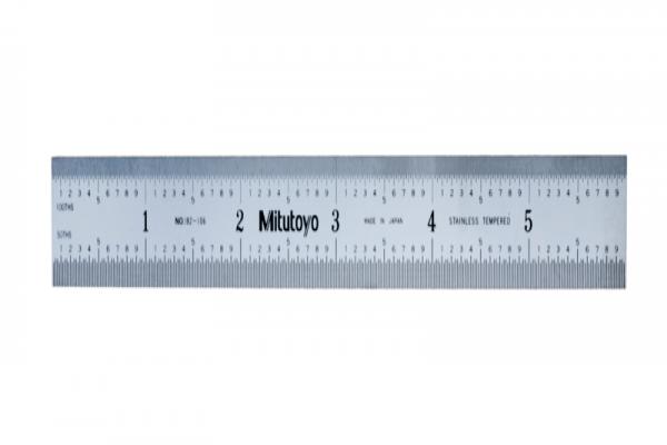"""Thước Lá Thép 150mm/6"""", Metric/Inch Mitutoyo, 182-106"""