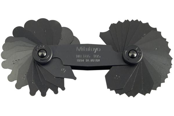 Dưỡng Đo Bán Kính, 1-7mm, 34 lá Mitutoyo, 186-105