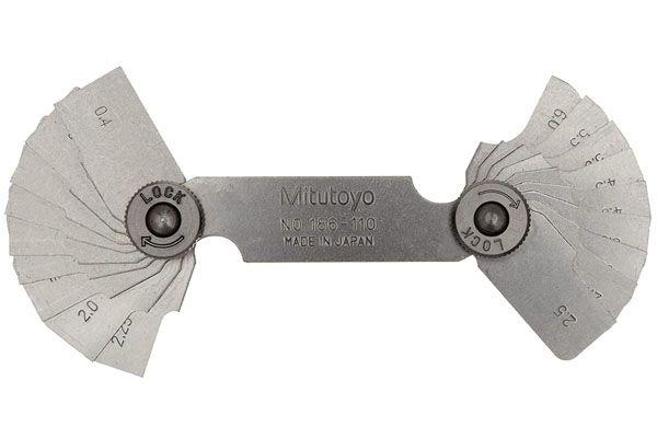 Dưỡng Đo Bán Kính, 0,4-6mm, 18 Lá Mitutoyo, 186-110