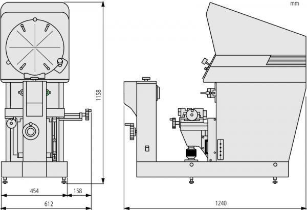 Máy chiếu do lường biên dạng Measuring Projector PH-A14, XY=203 x 102 mm, 172-810-20E