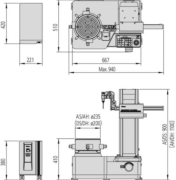 Máy đo độ tròn Mitutoyo Roundtest RA-2200DH [mm], 211-515D