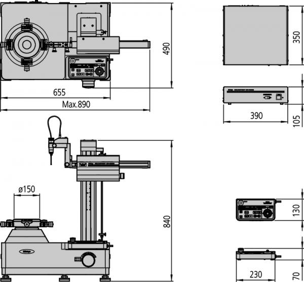 Máy đo độ tròn Mitutoyo Roundtest RA-1600 [mm], 211-723D