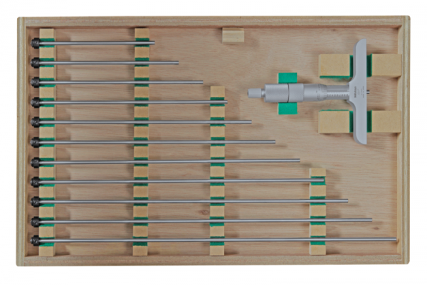 Panme đo độ sâu, có thanh nối 0-300mm, đế 101mm Mitutoyo, 129-153