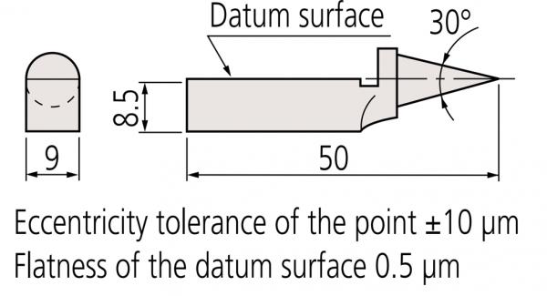 Mũi đo tâm 30° cho căn mẫu Mitutoyo, 619021