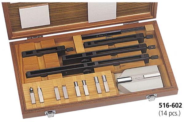 Bộ gá kẹp căn mẫu 14 chi tiết Mitutoyo, 516-602
