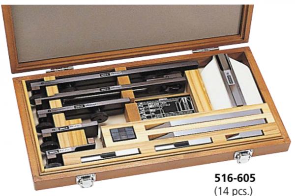 Bộ gá kẹp căn mẫu 14 chi tiết Mitutoyo, 516-605