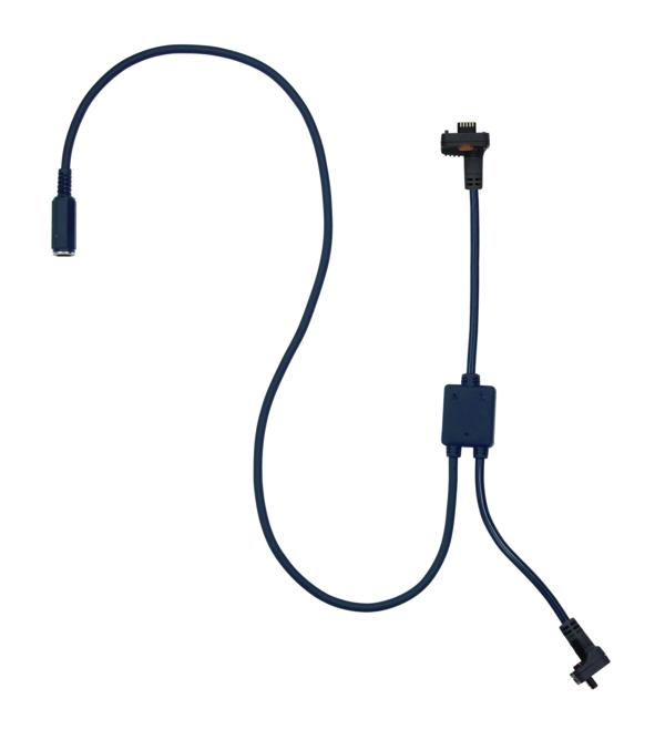 Cáp kết nối U-WAVE-T với thiết bị đo điện tử Mitutoyo, loại có cổng chia kết nối với bộ Footswitch, 02AZE140A