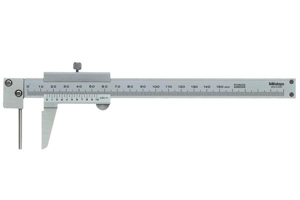 Thước Cặp Cơ Khí Mỏ Đặc Biệt, Vernier Tube Thickness Caliper 0-150mm, 0,05mm, Metric, 536-161